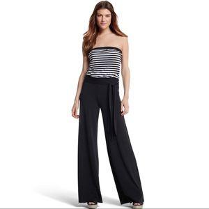 NWT White House Black Market Striped Jumpsuit XL